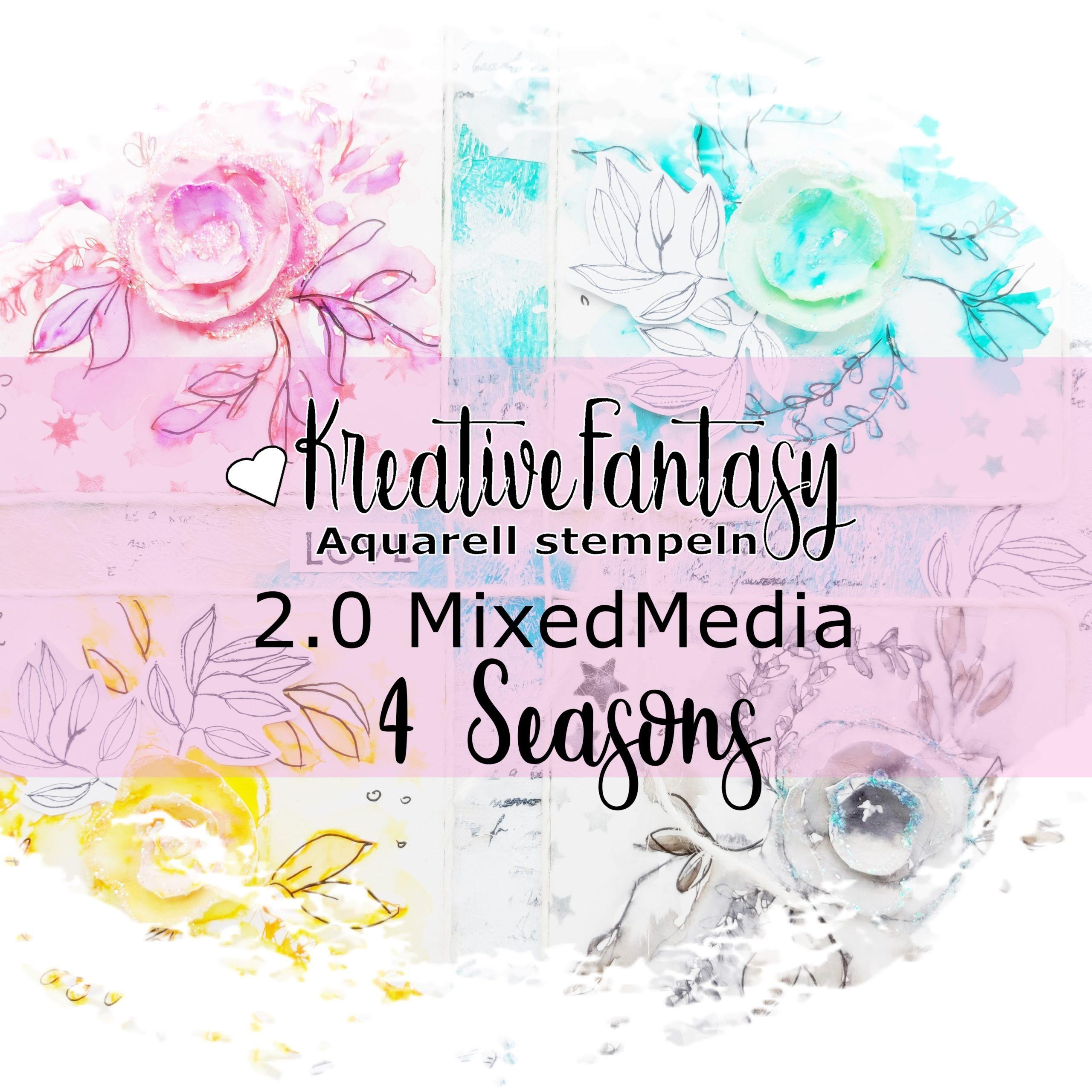 Titelbild Aquarell-Stempeln 2.0 Mixed Media 4 seasons