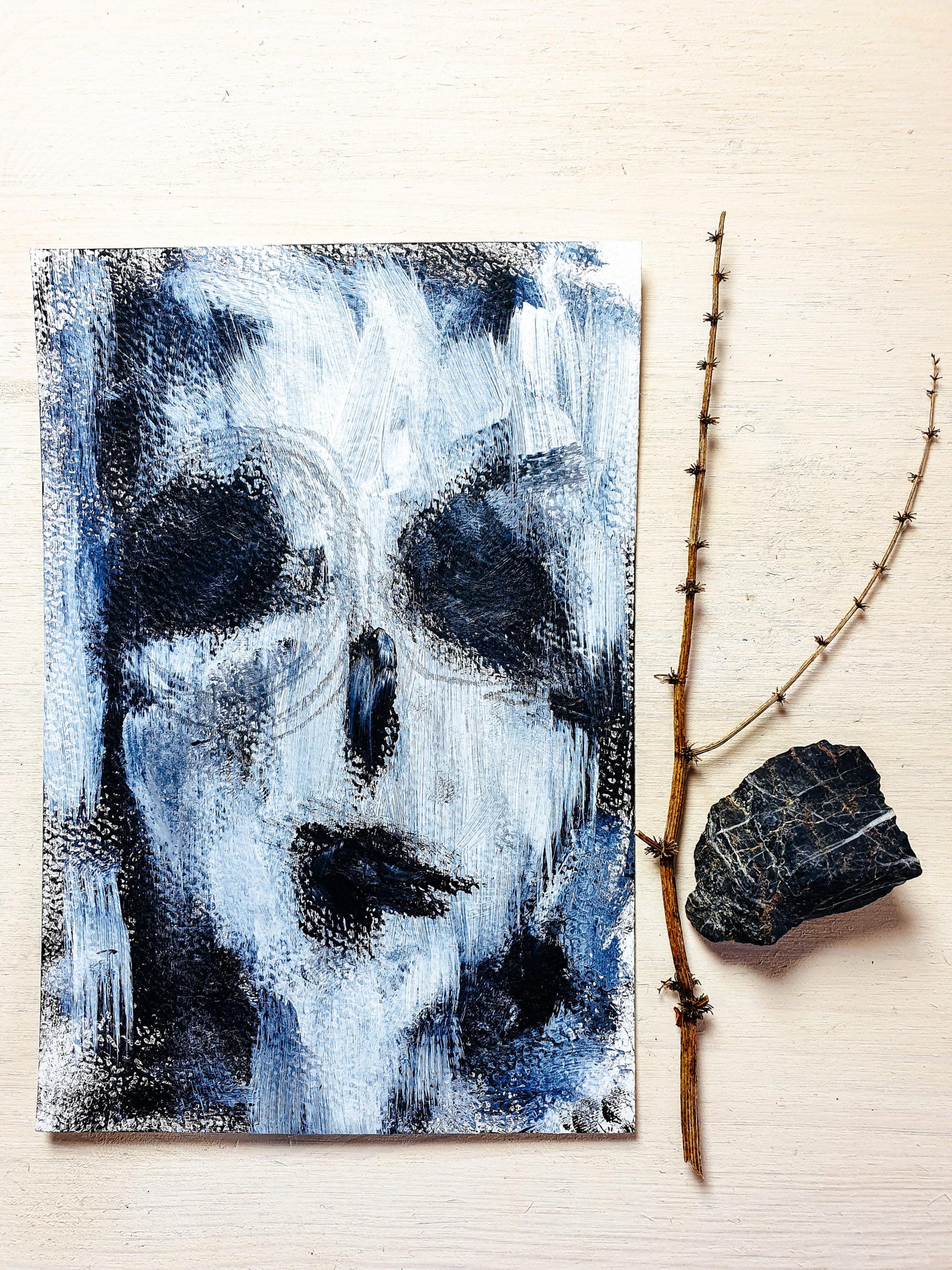 Gesichterliebe in Schwarzweiß